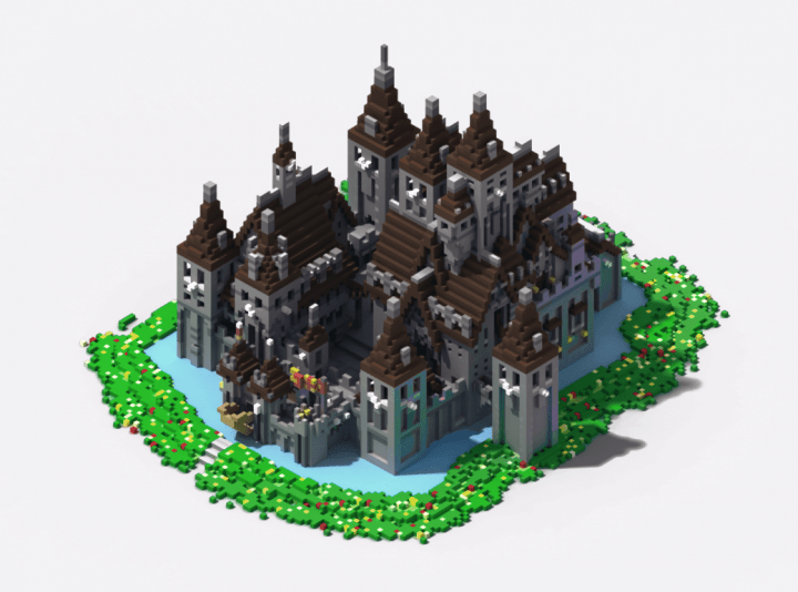 Oakheart Castle Ii Schematic Minecraft Map
