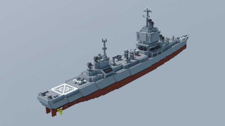 USS Long Beach CGN 9 Minecraft Project