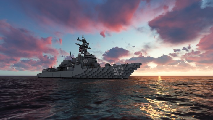 USS Halsey DDG 97 Arleigh Burke Class Destroyer Flight IIA United States Navy 11