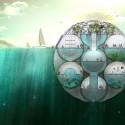 Bloom: Granja flotante de fitoplancton absorbe dióxido de carbono y permite monitorear los niveles del mar © Sitbon Architectes