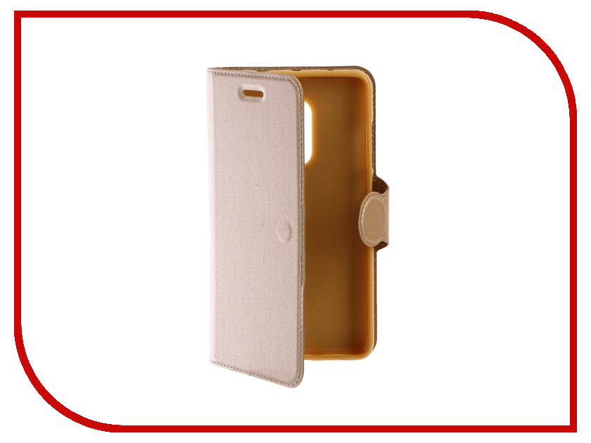 Аксессуар Чехол Xiaomi Redmi Note 4 Red Line Book Type Gold