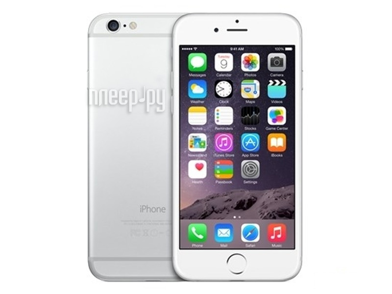 Сотовый телефон APPLE iPhone 6 - 64Gb Silver MG4H2RU/A