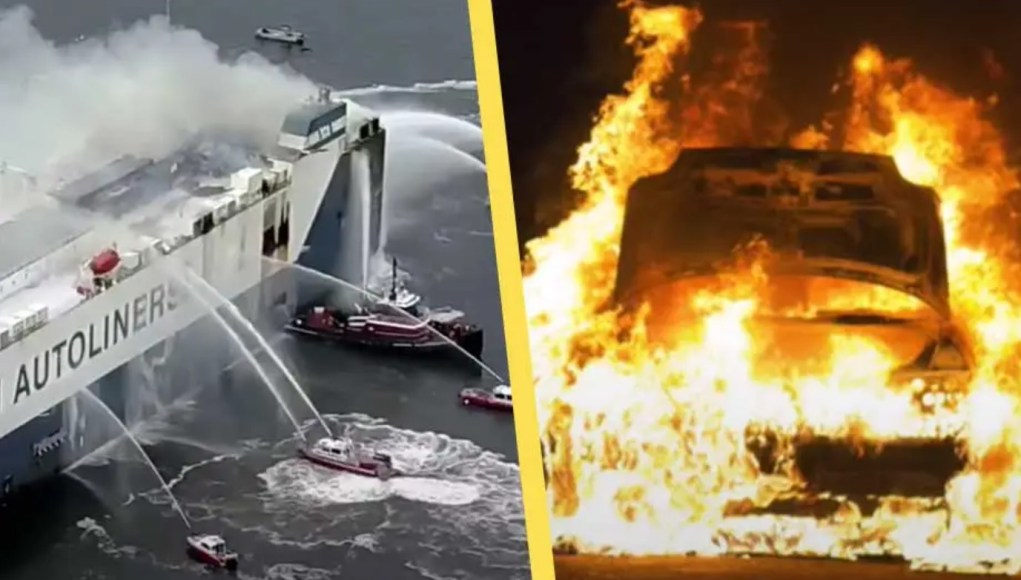 Skipsbrann med elbiler ombord er en sikkerhetsrisiko.