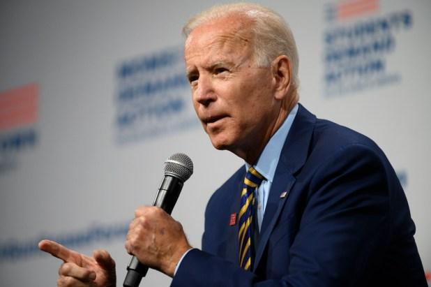 President Joe Biden speaks onstage at an Everytown for Gun Safety event.
