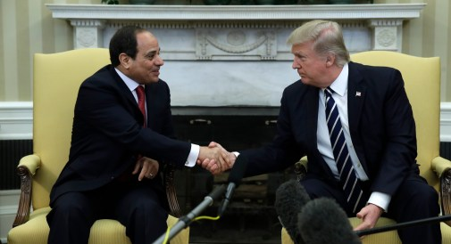 Image result for trump shakes hands with and el sisi