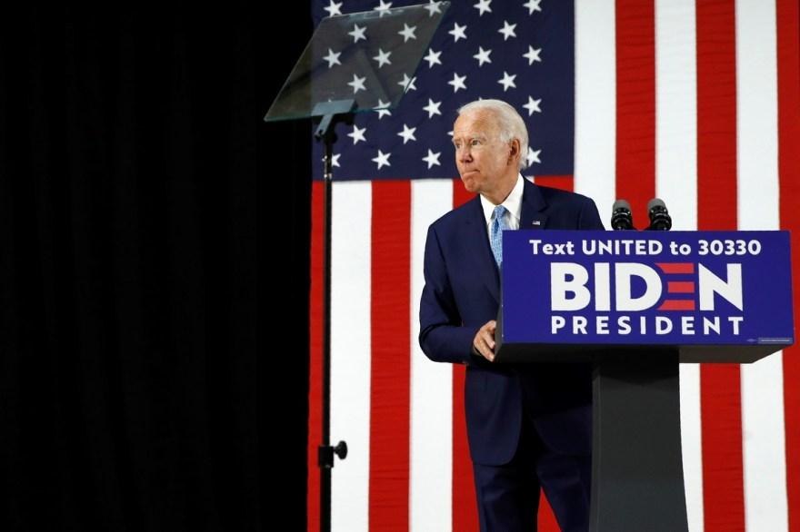 Joe Biden speaks in Delaware