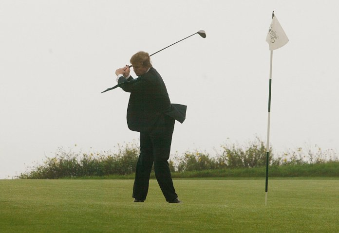 Image result for trump golfing president