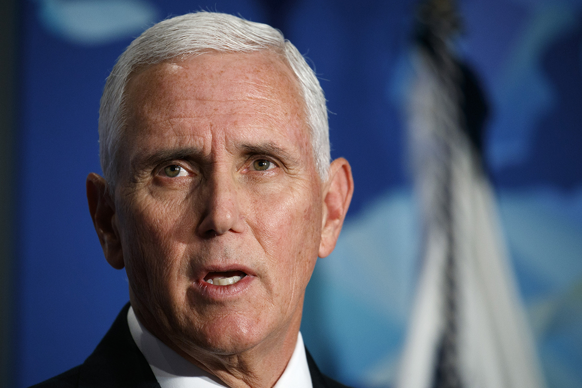 Pence cheerleading for Trump ahead of impeachment hearing