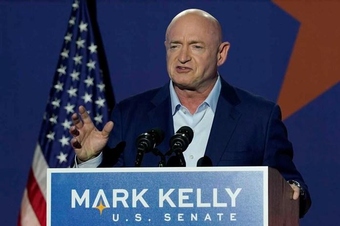 Mark Kelly, Arizona Democratic candidate for U.S. Senate, speaks at an election night event Tuesday, Nov. 3, 2020 in Tucson, Ariz.