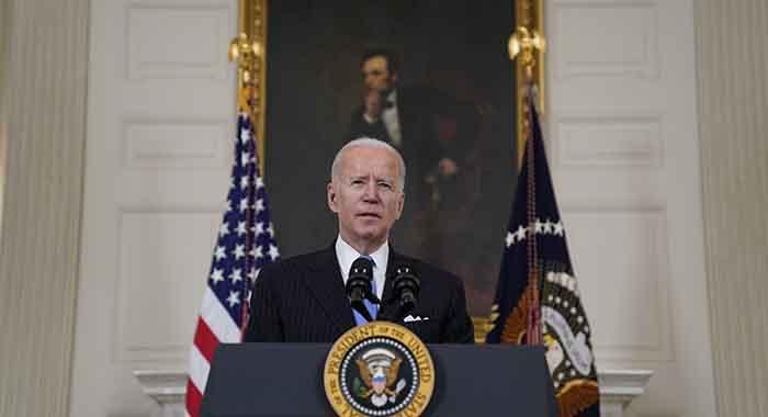 President Joe Biden speaks about efforts to combat Covid-19 on March 2, 2021.