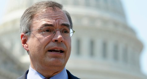 Rep. Andy Harris, R-Md., speaks at a news conference outside the U.S. Capitol in Washington.