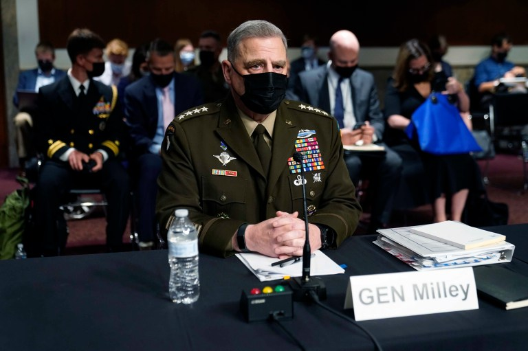 Milley: Beijing's fears of U.S. attack prompted call to Chinese general