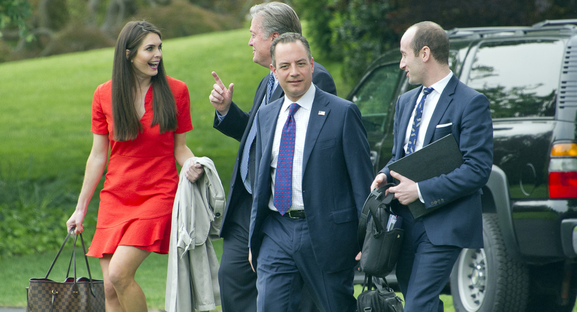 Image result for PHOTOS OF HOPE HICKS AND KUSHNER