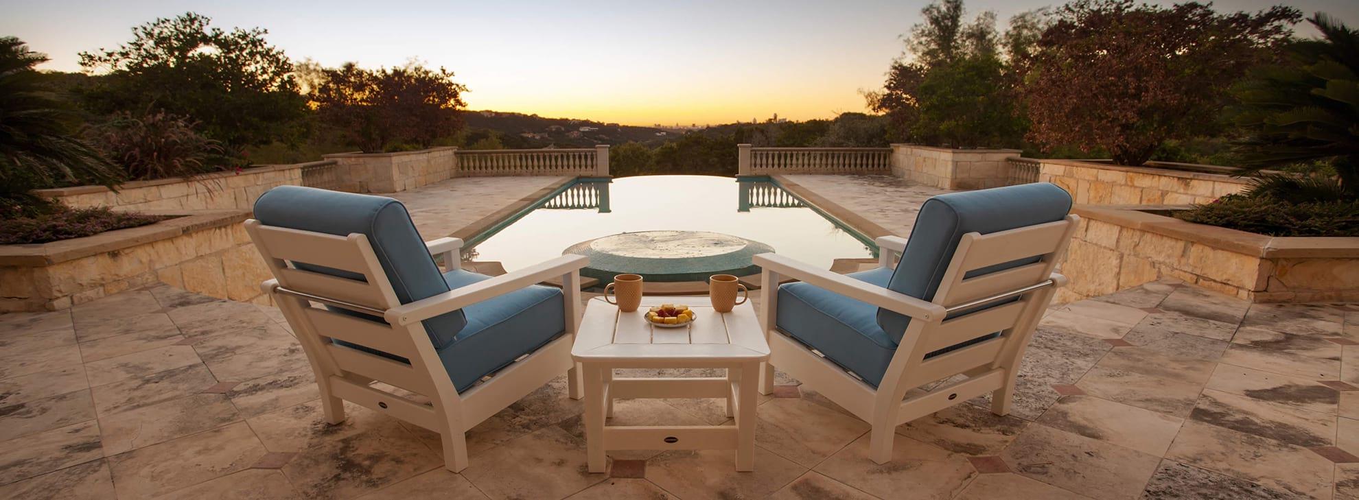 outdoor deep seating polywood