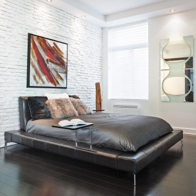 chambre minimaliste au style contemporain