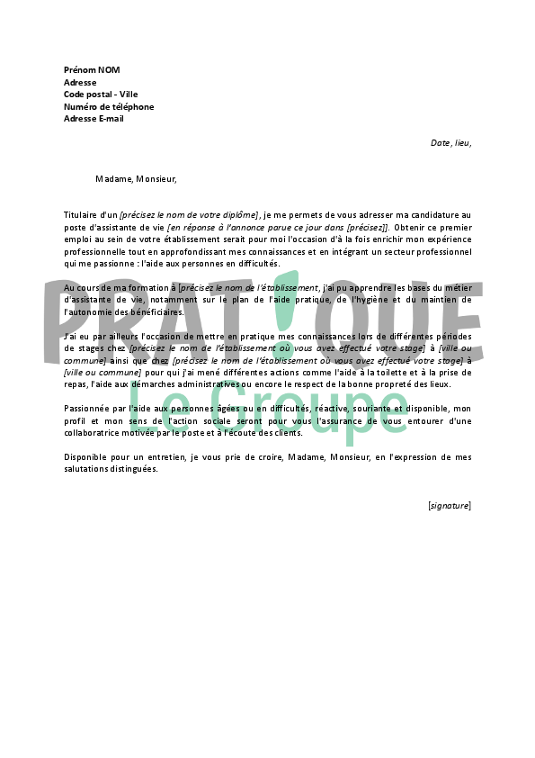 Lettre De Motivation Avs Scolaire Nh28 Jornalagora