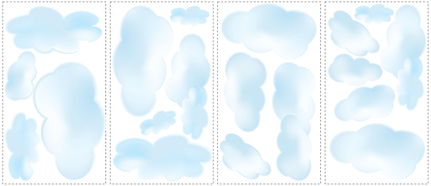 Cloud Wall Stickers Girly Wall Stickers Fun Decor