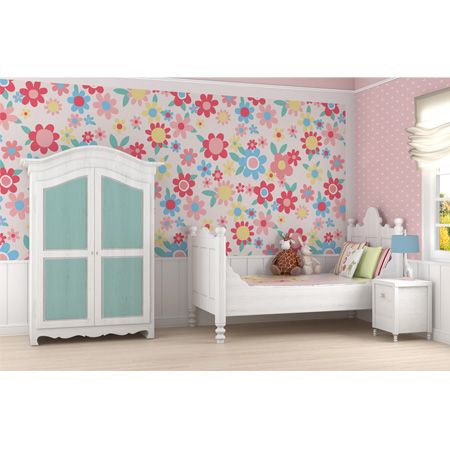 girls wallpaper | girls wall stickers | girls bedroom ideas | fun