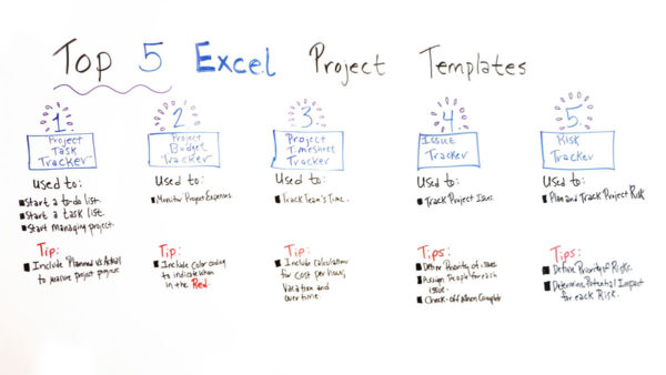 Top 5 Excel Project Templates