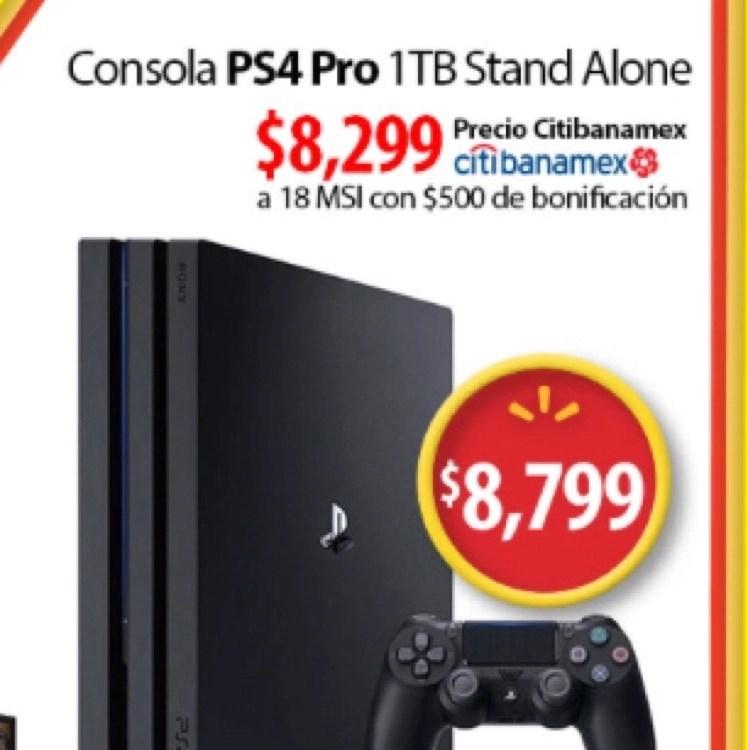 Walmart Consola PS4 Pro 1TB A 8299 Con Citibanamex
