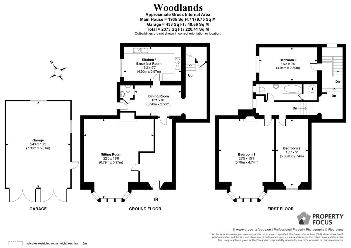 3 Bedroom Link Detached House For Sale In Rowlands Castle