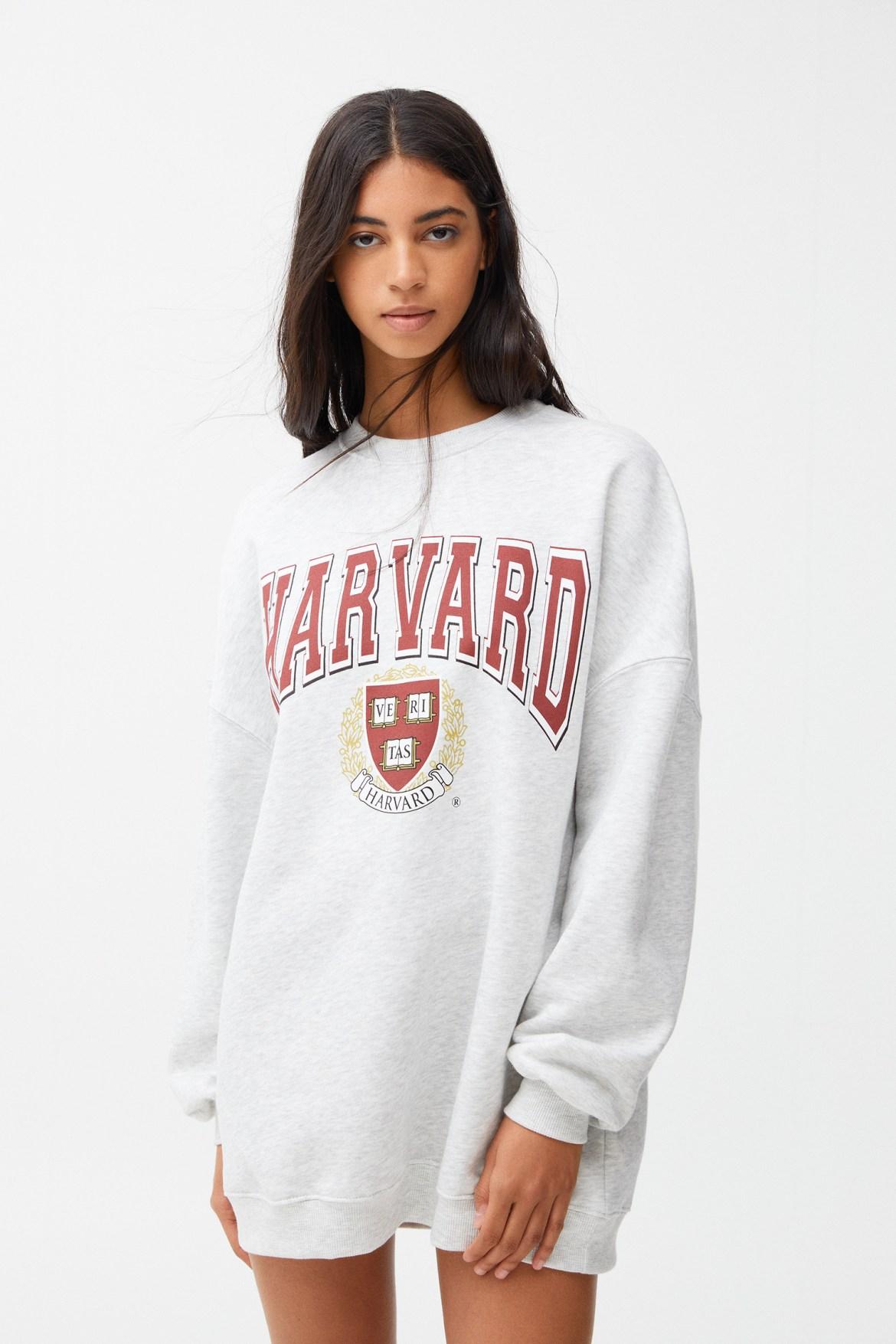 Vestido sudadera gris Harvard, Gris Vigoré