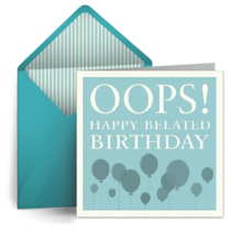 Belated Birthday Cards Free Belated Ecards Greeting Cards Belated Happy Birthday Wishes Punchbowl