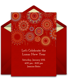 Free Chinese New Year Online Invitations   Punchbowl Plus