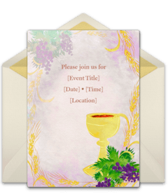 free first communion online invitations