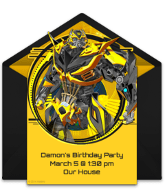 free transformers online invitations