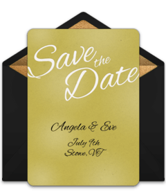 Save The Date Scroll