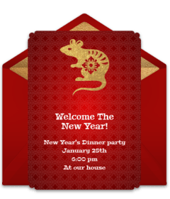 Free Lunar New Year Online Invitations