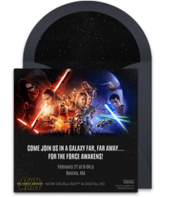 free star wars online invitations