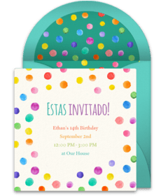 free spanish invitations spanish