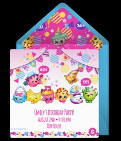 free shopkins online invitations