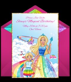 free barbie online invitations punchbowl