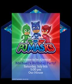 Free Pj Masks Online Invitations Punchbowl