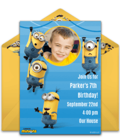 Free Despicable Me Online Invitations Minion Invitations Punchbowl