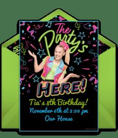free jojo siwa online invitations