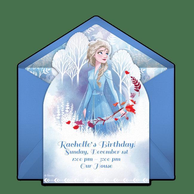 free frozen 2 elsa online invitation