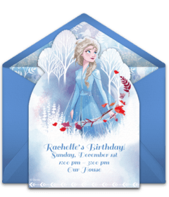 free winter themed online invitations