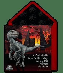 free jurassic world online invitations