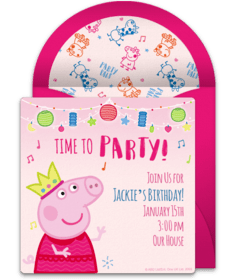 free peppa pig online invitations