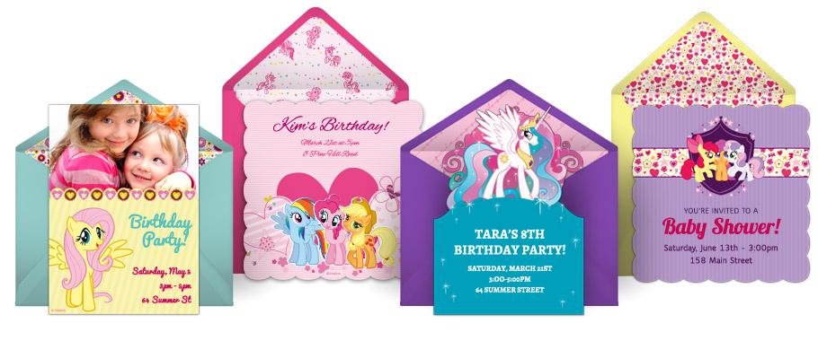 free my little pony invitations my