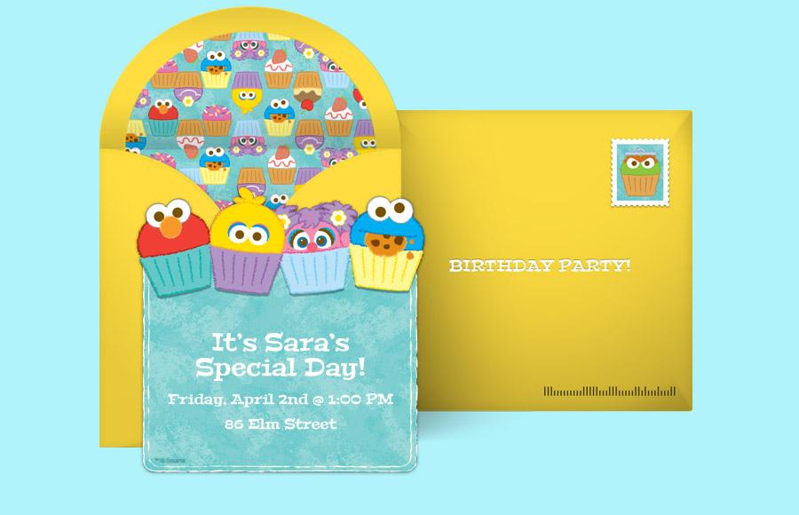 free sesame street invitations sesame