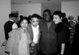 Momoko Ando, Chikashi Suzuki,Steve McQueen, and Rinko Kikuchi at the opening of…