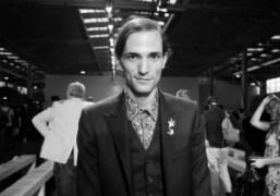 Christopher Niquet after theGivenchy Men's Spring/Summer 2013 Show, Paris. Photo Annabel Fernandes