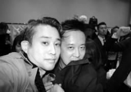 Chikashi Suzuki and stylistShun Watanabe at Balenciaga Omotesando opening party, Tokyo. Photo…
