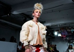 Meadham Kirchhoff S/S 2015 show at the Phonica Records, London