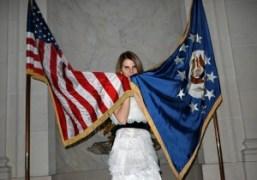 ANNA DELLO RUSSO at the american embassy, paris